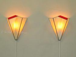 Acanthus wandlamp, een Rose design Tiffany wand lamp.