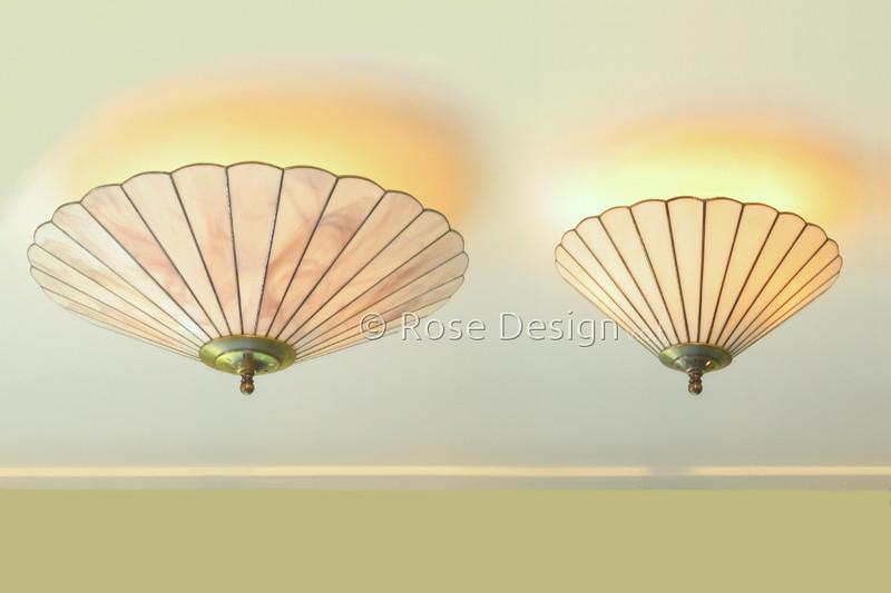 Plafonnière 48 & 33 cm. Tiffany lampen van Rose design.