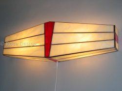 Wing, een Rose design Tiffany wandlamp