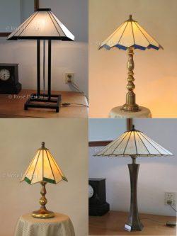 Verschillende Rose Design Tiffany lampen die geschikt te maken zijn voor op een tafellamp voet.